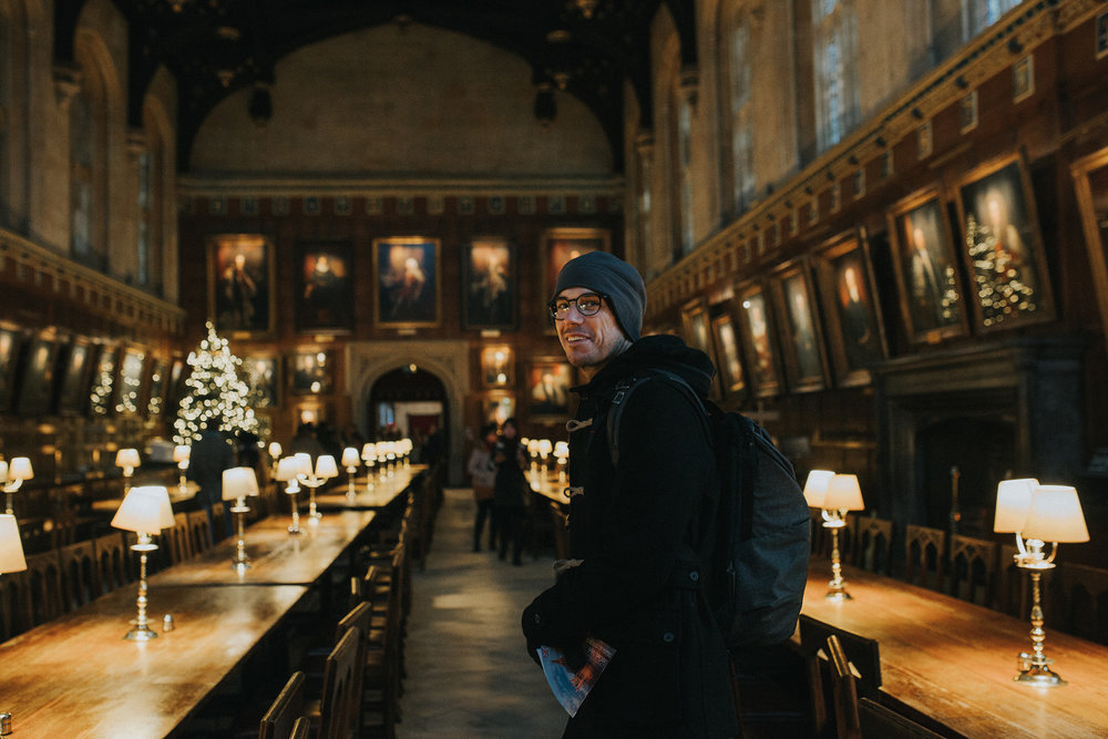 December 16: The Hall at Christ Church at Oxford, University, which inspired the Great Hall at Hogwarts in Harry Potter. Of all the places we visited in England, both Ty and I loved Oxford the most.