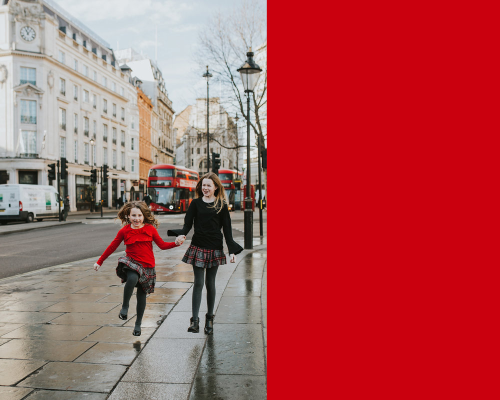 December 19: As soon as our trip was planned, Mike requested family photos in London. Check.