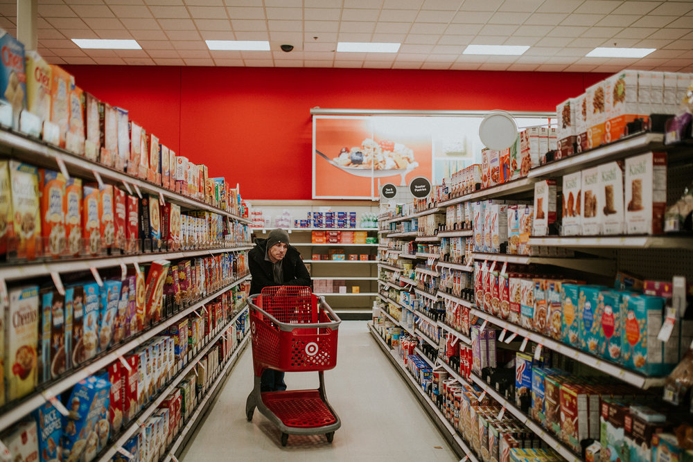 March 4: He may not love a Target run, but he's usually game for coming along for the ride. And snacks.