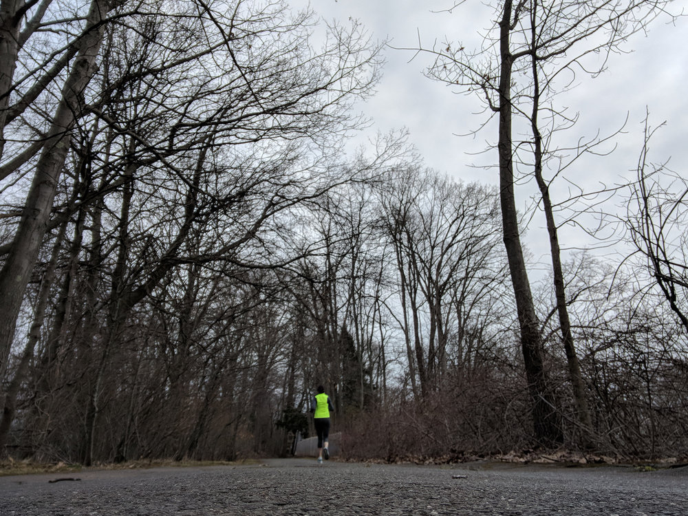 April 9: Marathon. Training. Peak mileage week.