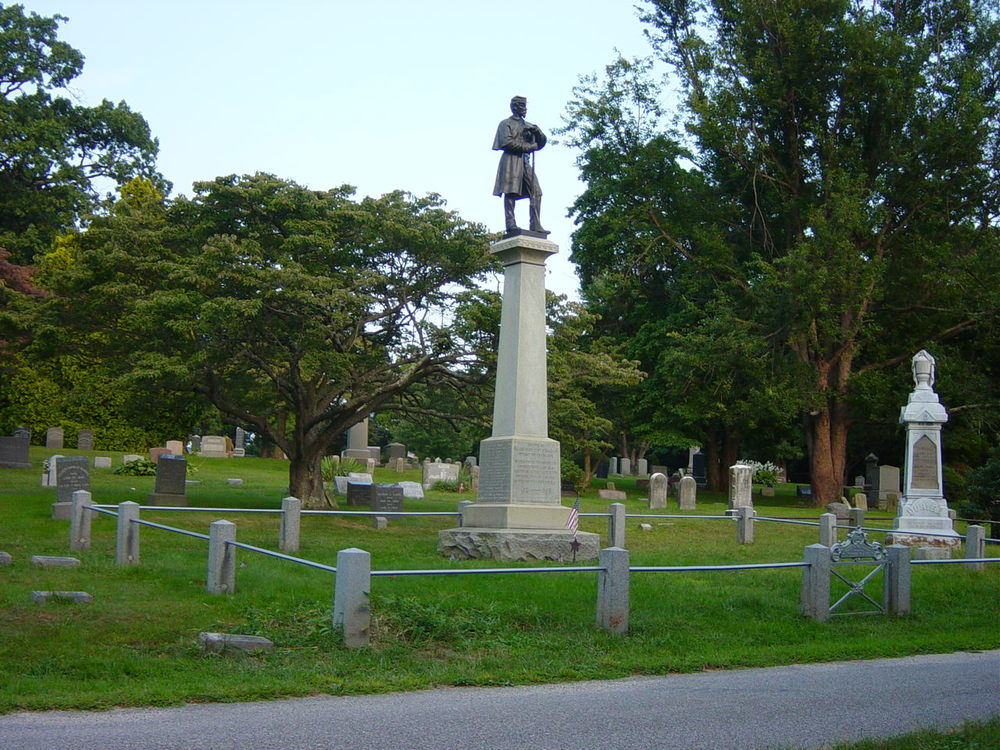 Elijah Ward Post No. 654 G.A.R. Monument, Roslyn Cemetery, Roslyn, New York.