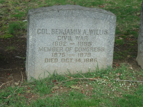 Grave marker for Benjamin Albertson Willis, Woodlawn Cemetery, Bronx, NY(Section 65, Poplar Plot, Lot 5162)
