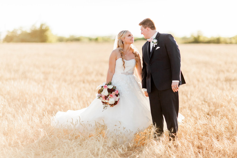 Wichita Falls, TX French Country Meadow Wedding Photos - Bridal Photography