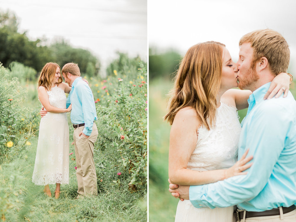 North Texas Engagement Photos - Garden Photographer