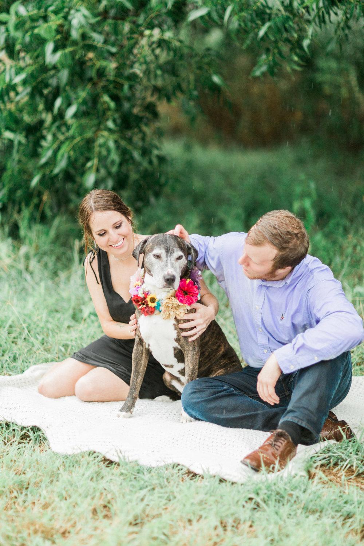 Burkburnett, TX Engagement Photos - Garden Photography