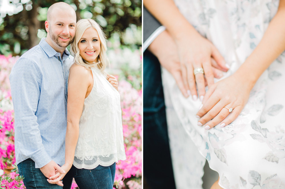 Dallas Arboretum Engagement Photos - Light and Airy Photography