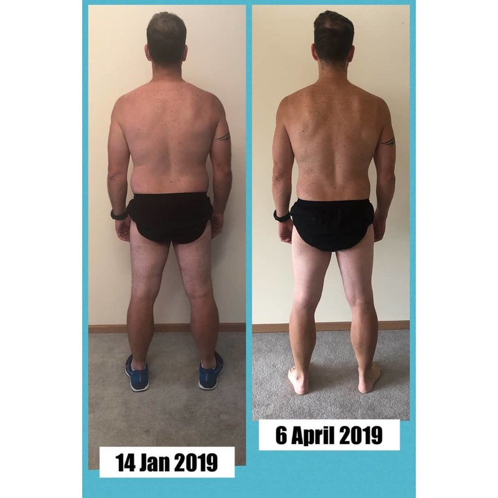 Aaron, April 2019 - Aaron posted some serious numbers after finishing his 12 Week New Years Challenge. Some quick stats:Start Weight: 91kgNow: 83kg ⬇️ 8kgStart Body Fat: 22.9kgNow: 12.8kg ⬇️ 10.1kg of FAT!Start Muscle Mass: 38.9kgNow: 40kg ⬆️ 1.1kgStart Body Fat %: 25.2%Now: 15.4% ⬇️ 9.8%