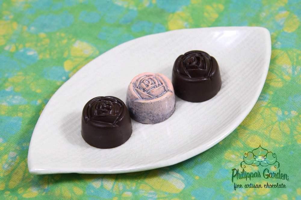 Airbrushed Dark Chocolate Rose.JPG