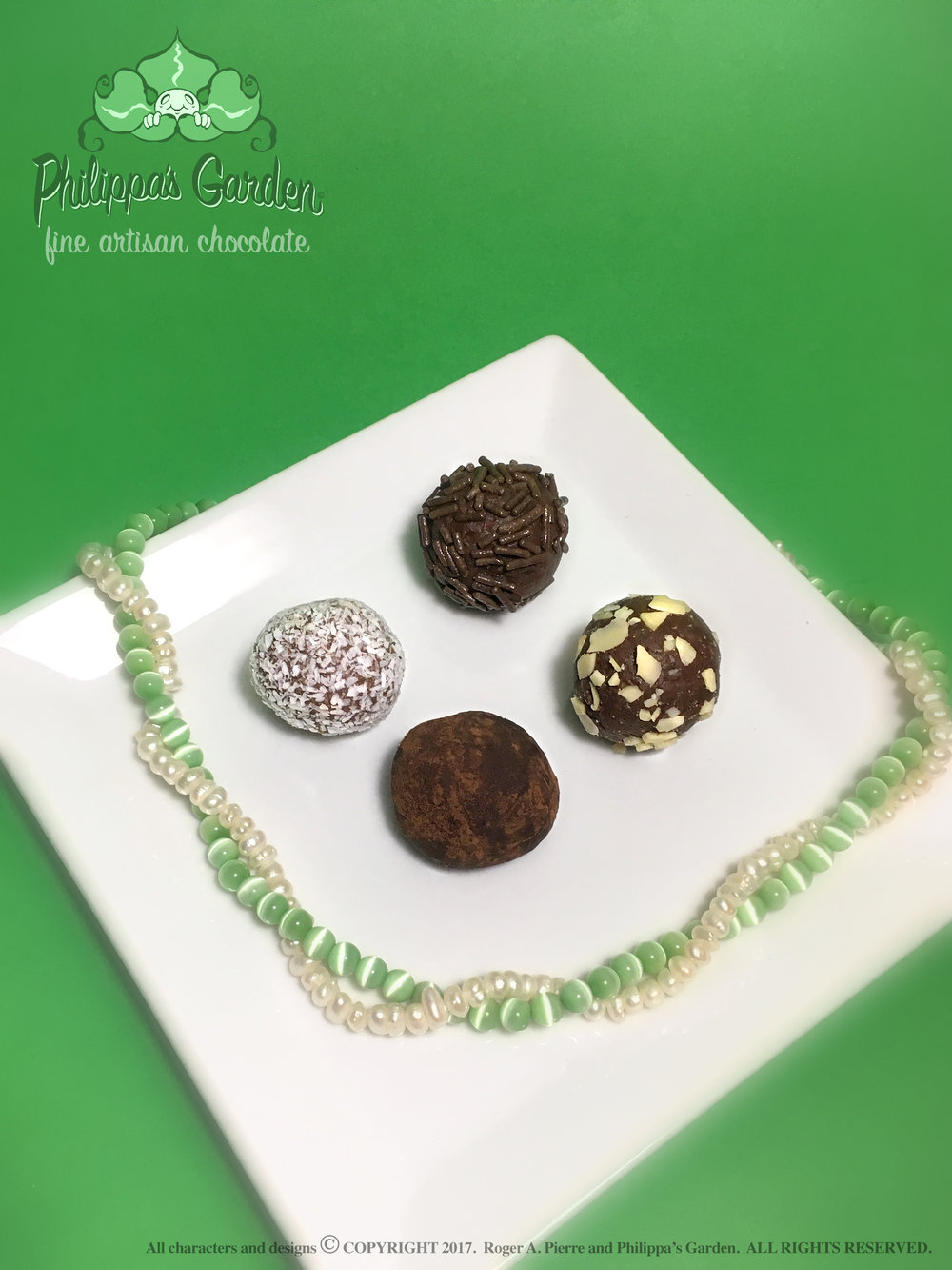 Truffles - Chocolate ganache infused with delightful flavours and rolled in a selection of coatings.