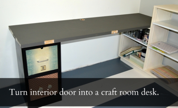 Weekend Project: DIY upcycled door to desk — The Olympic Nest