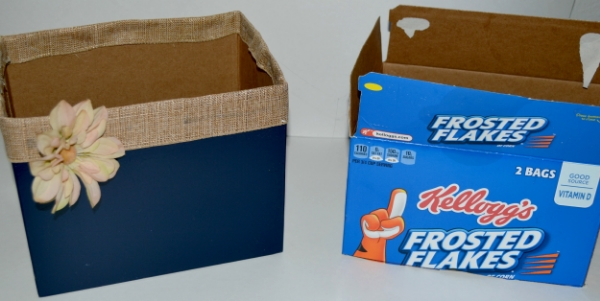 upcycle cereal box
