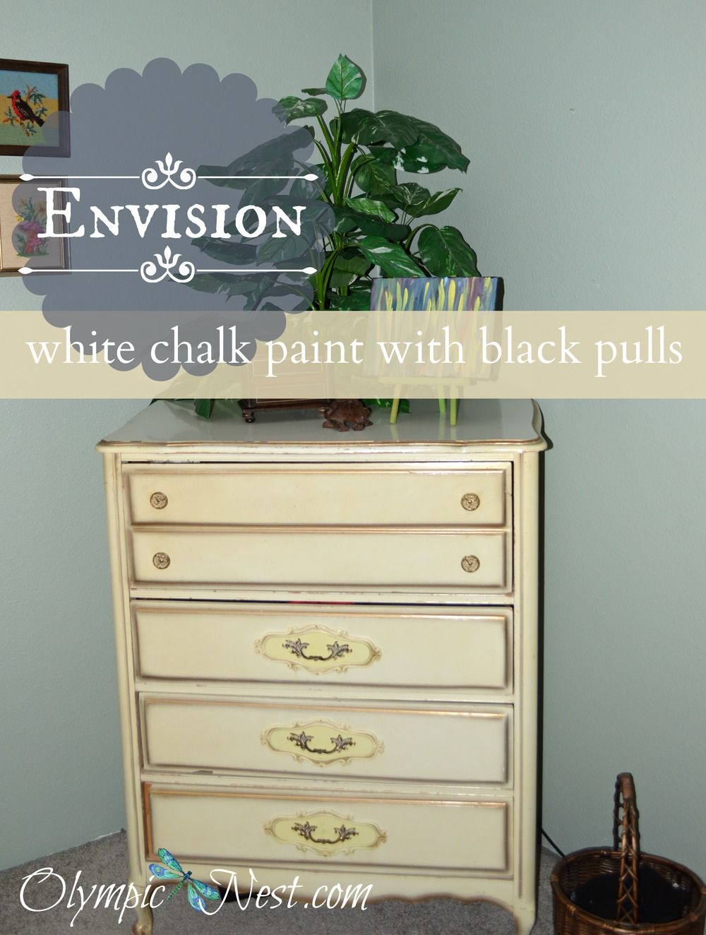 planning dress over transformation with chalk paint