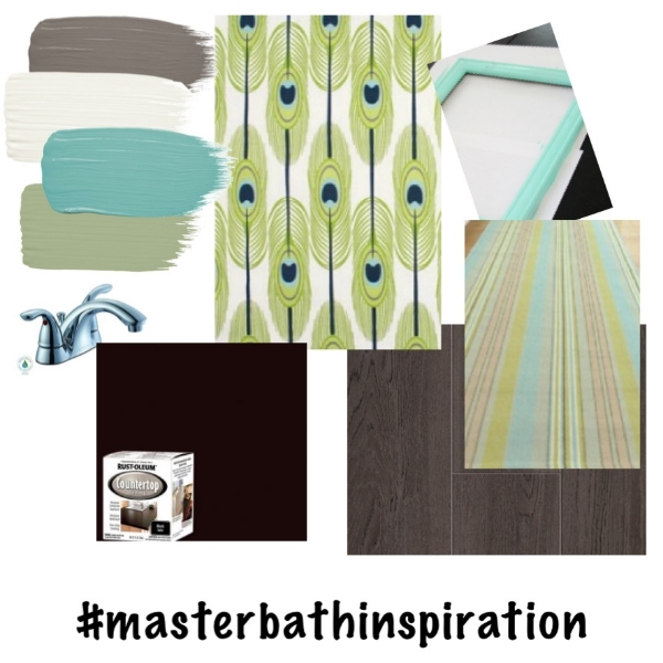 Master bathroom inspiration board