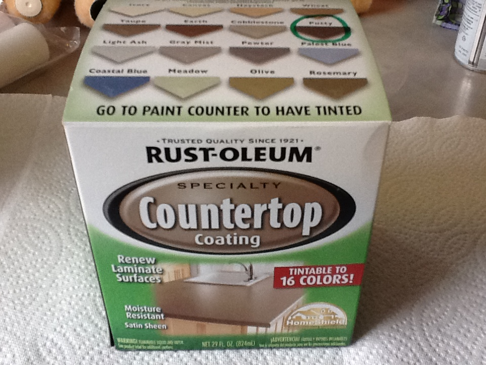 Rustoleum counter top paint for bathroom vanity makeover