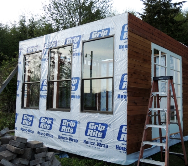 greenhouse house wrap and siding