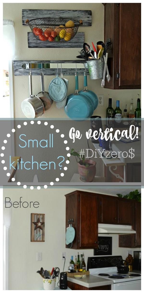 organize kitchen vertically