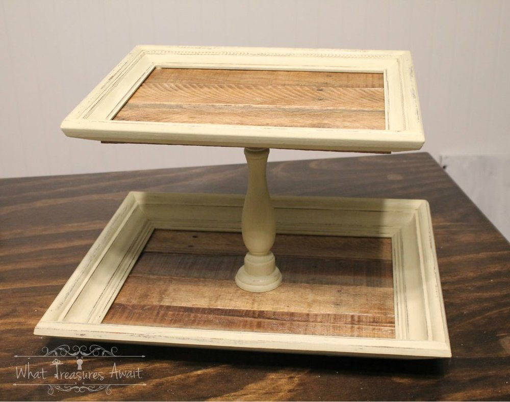 DIY-picture-frame-tiered-tray