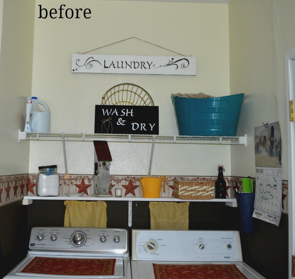 laundry room gets a rustic makeover