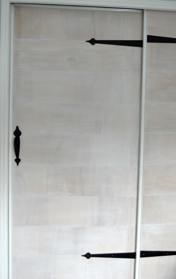 dummy hinges and pulls faux barn doors