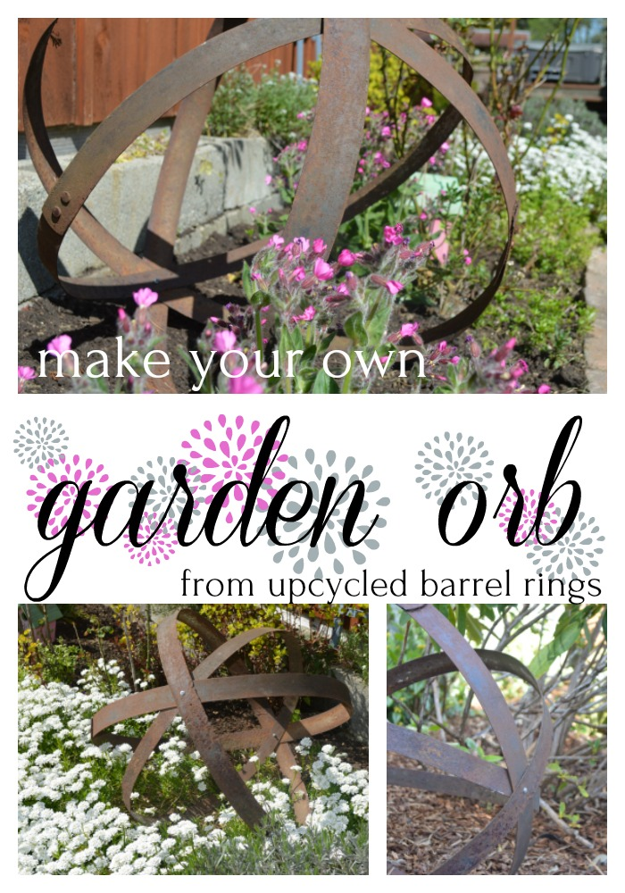 add some rustic charm to your garden with diy metal orb.jpg