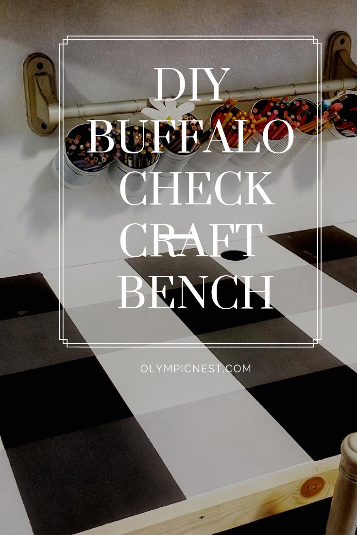 diy buffalo check craft bench.png