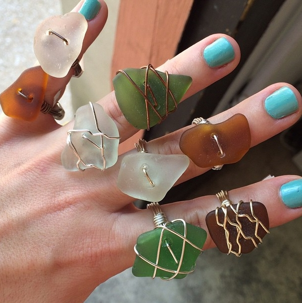 Sea glass rings From the House of Z