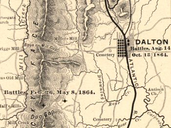 Johnston's Army of Tennessee used the hills around Dalton to create a defensive barrier. (Library of Congress)