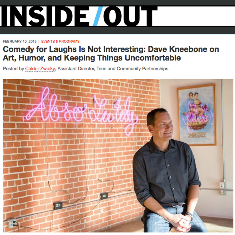 Comedy for Laughs is Not Interesting: Dave Kneebone on Art, Humor, and Keeping Things Uncomfortable