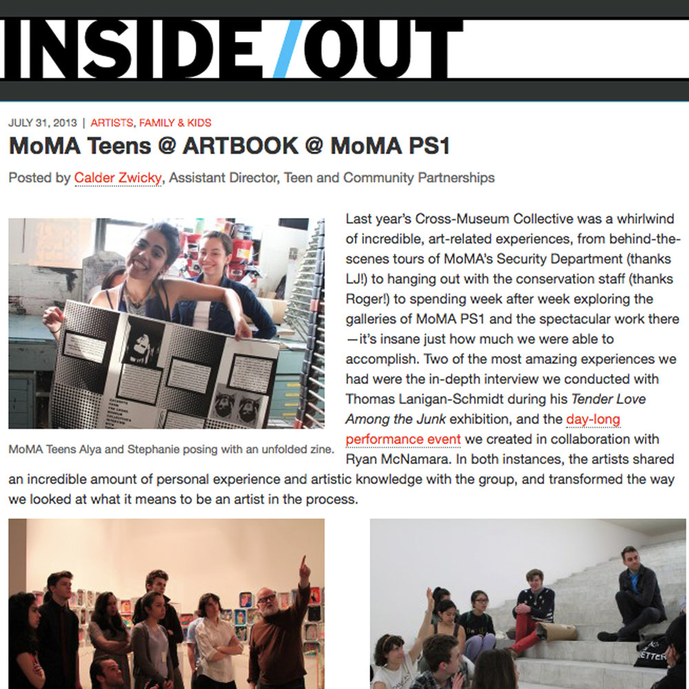 MoMA Teens @ ARTBOOK @ MoMA PS1