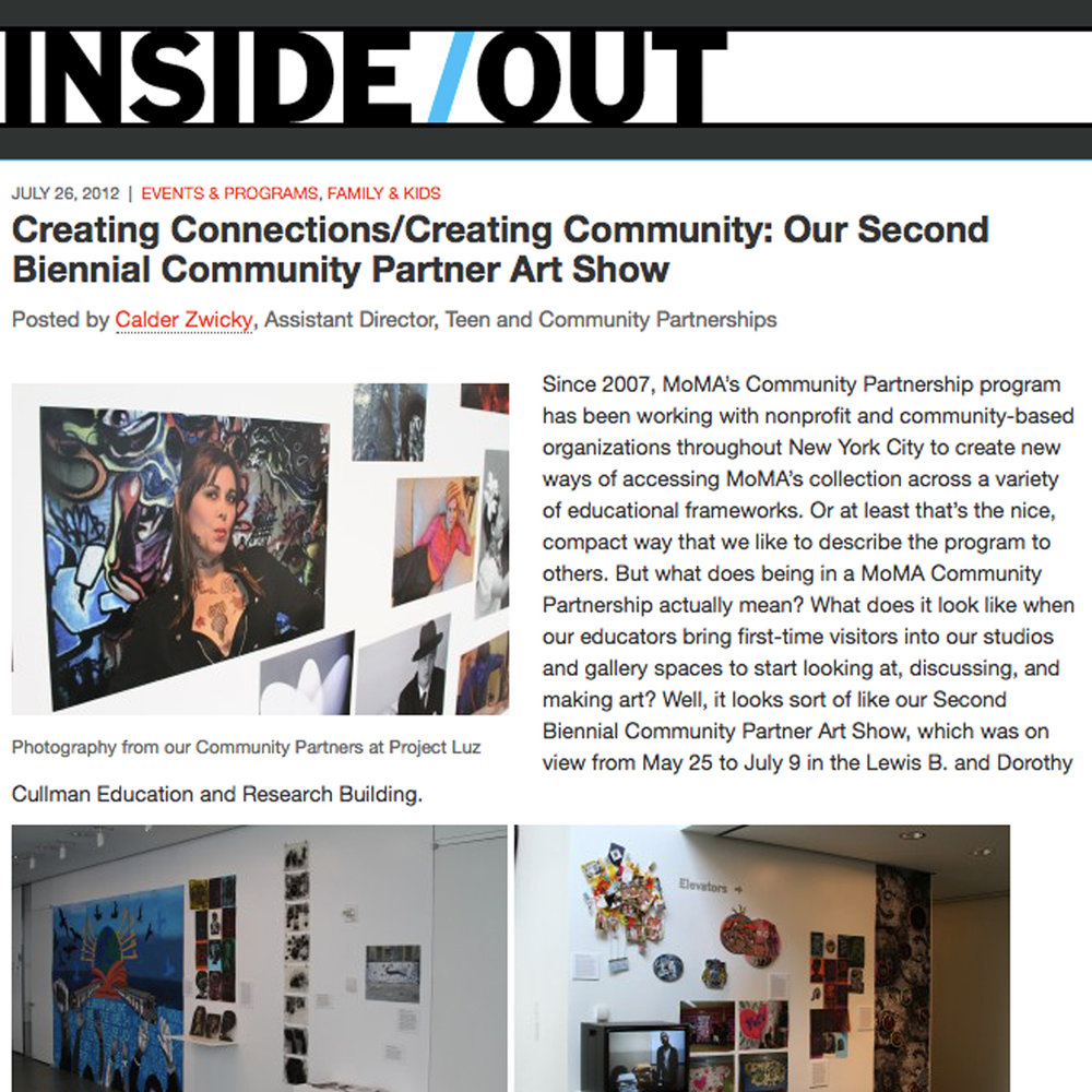 Creating Connections/Creating Community: Our Second Annual Community Partner Art Show