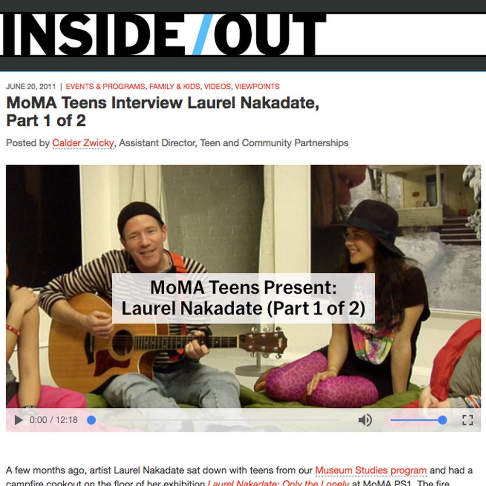 MoMA Teens Interview Laurel Nakadate