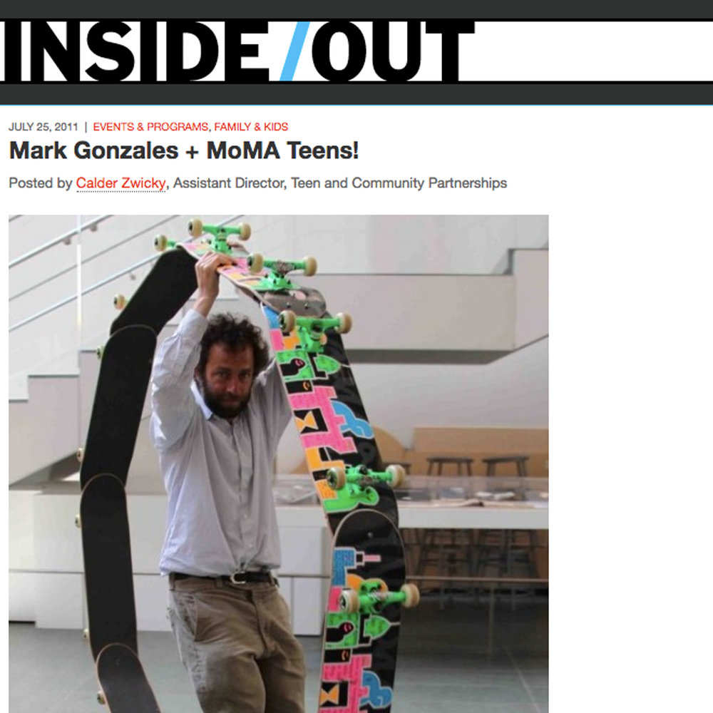 Mark Gonzales + MoMA Teens