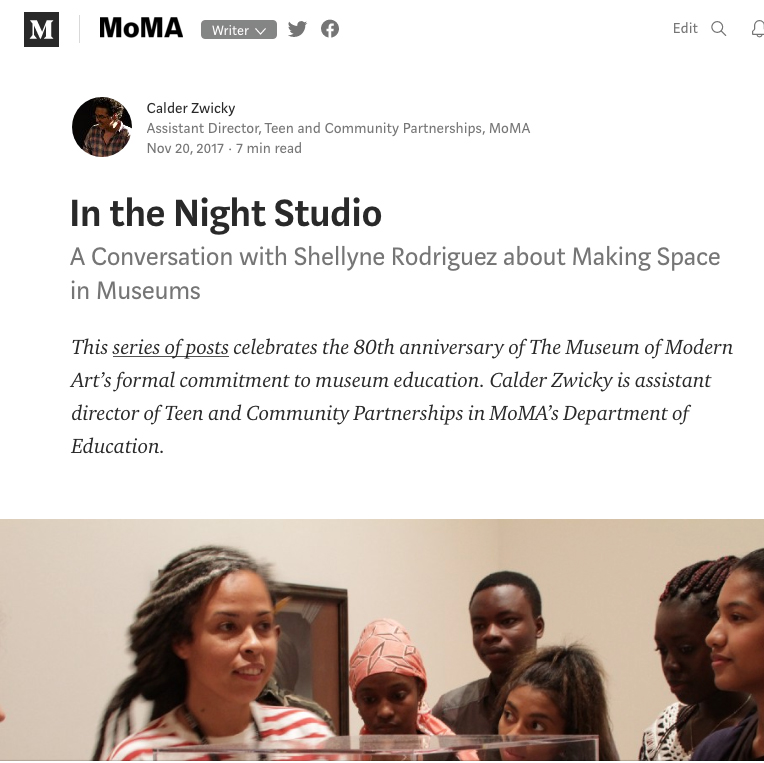 In the Night Studio: A Conversation with Shellyne Rodriguez about Making Space in Museums