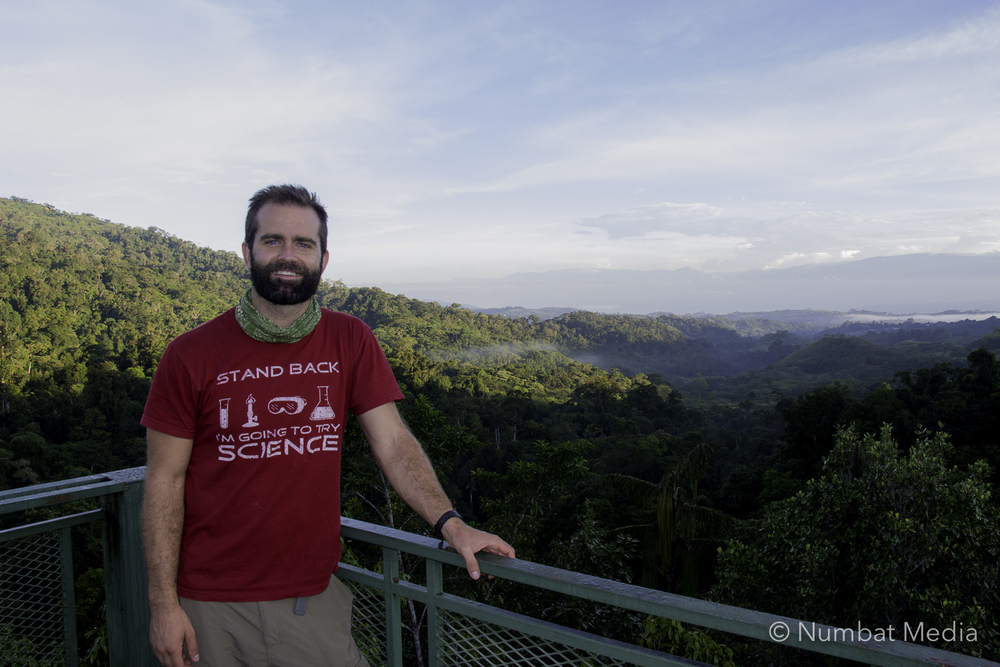 Matt enjoys a sunrise at Las Cruces Biological Research Station in southern Costa Rica after pulling an all-nighter shooting video with Tyler Corey.