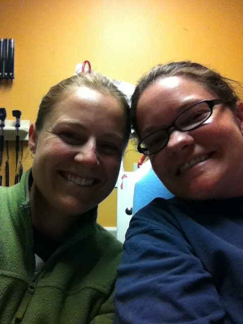 Amanda (left) and I in the ER...at ~4:30am