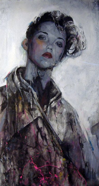 the rain-180 x 110 cm-oil acrylic and enamel on canvas