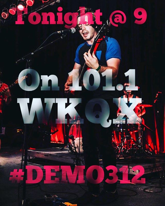 Tune into @101wkqx at 9 tonight to hear them spin our single Mr. Monday on #demo312 ...dreams really do come true