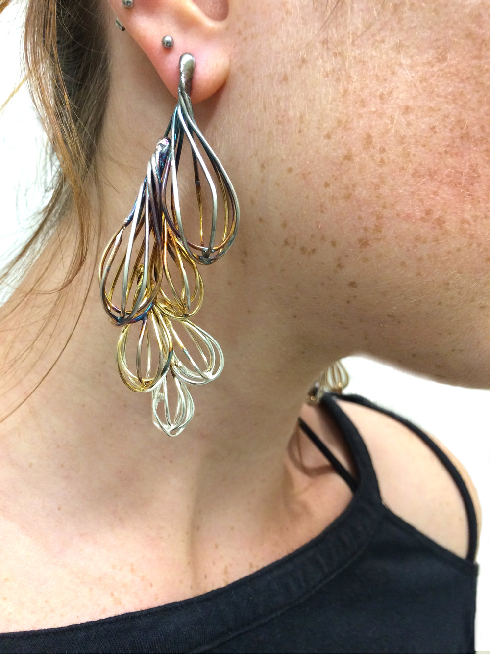 Effervescence Earrings 1 (on body)