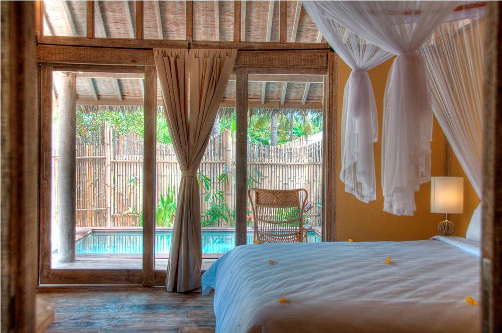 Hotel villa in gili trawangan