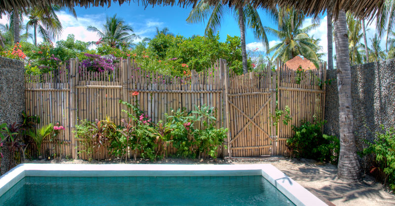 Private swimming pool villa gili trawangan