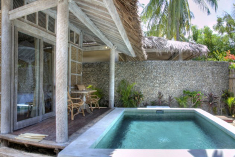 Villa with private pool and terrace Gili island