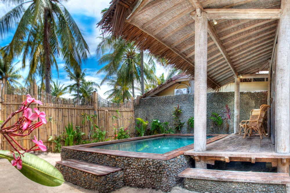 Villa gili exterior swimming pool and garden