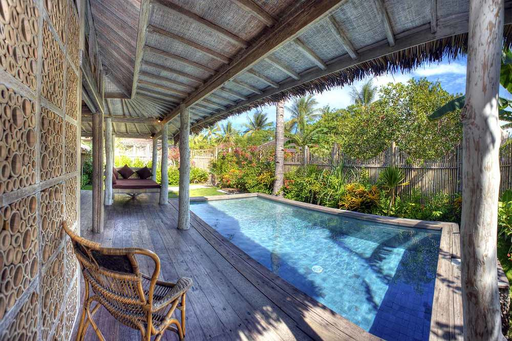 private swimming pool in gili trawangan Villa Ottalia