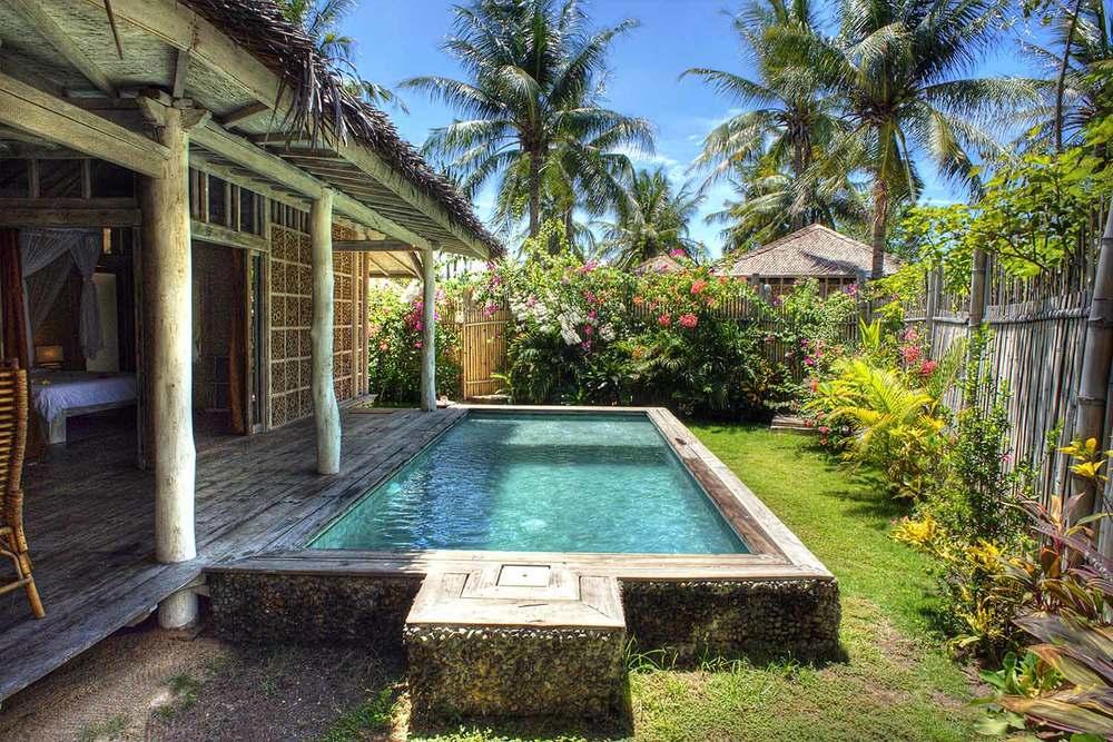 Pool villa hotel Gili Trawangan