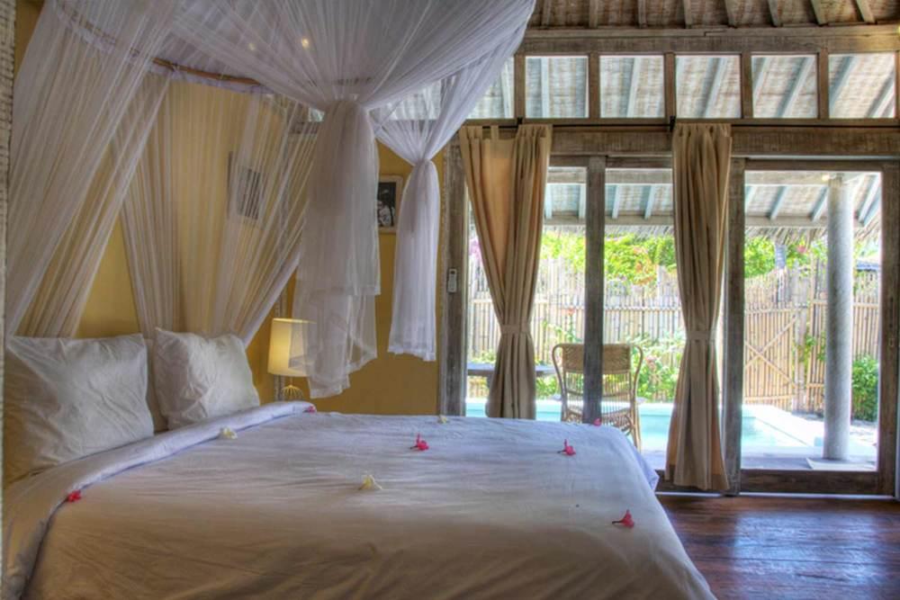 Bedroom villa gili trawangan