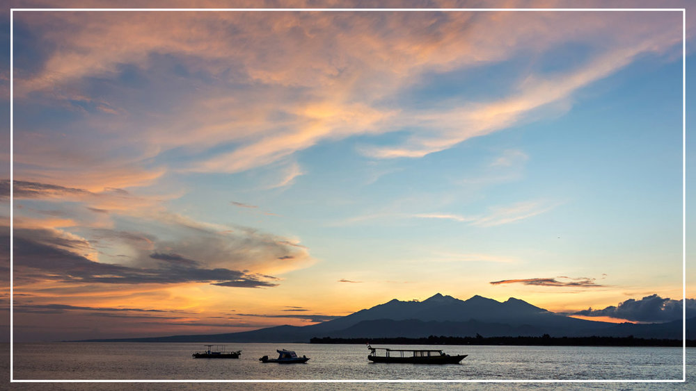 Gili Islands sunset