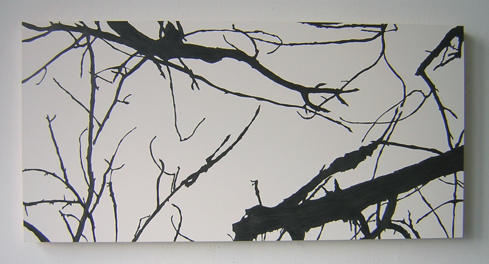 "LastLight , 2004 Pencil on clayboard panel 16"" x 32"" SOLD"