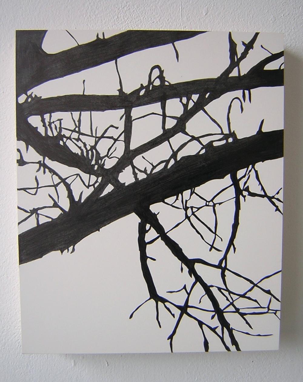 "SunDown , 2004 Pencil on clayboard panel 16"" x 14"" SOLD"