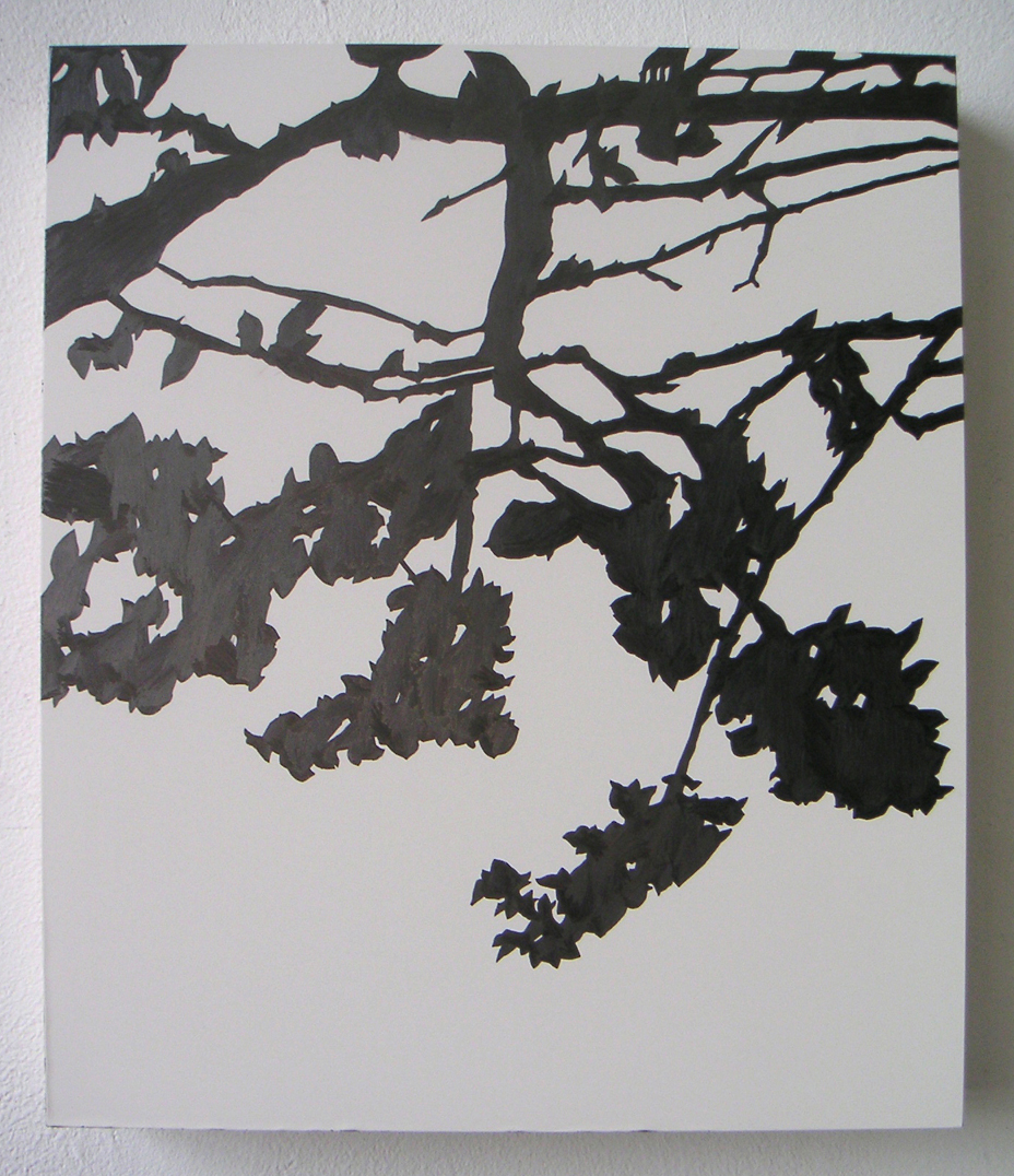 "Kanzan 02 , 2005 Pencil on clayboard panel 14"" x 12"" SOLD"