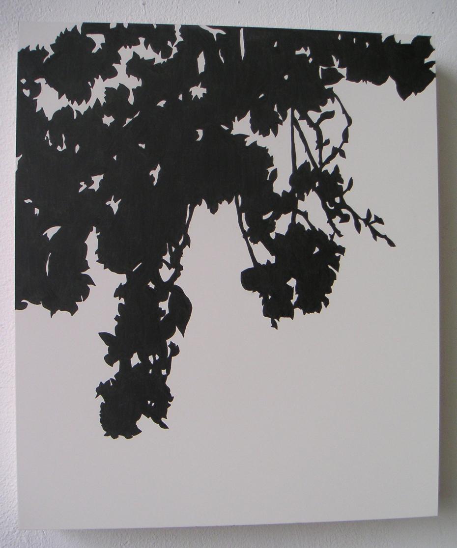 "Kanzan 04 , 2005 Pencil on clayboard panel 14"" x 12"" SOLD"